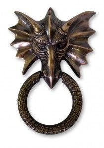 Dragon Door Knocker in Antique Copper - Antique Copper Door Knockers - Door Knockers - Door Furniture - Hardware - Category | Black Country Metal Works