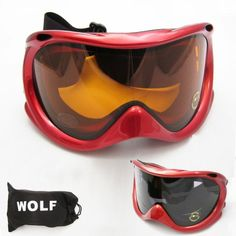 79253bf7d253 Ski Snowboard Snow Glasses Sun Goggles Sports Lens Anti Fog Adult Men Women  Red ATB http