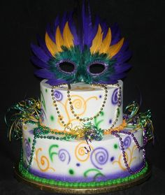 yessss!!!!   love the beading on the cake and the mask!