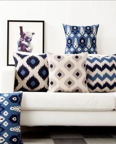 #Interior #design #decoration #home Simple decorative pillows give the interior freshness