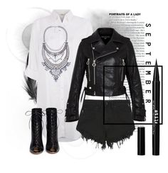 """""""September grunge"""" by elissadoonan ❤ liked on Polyvore featuring Monsoon, Nana Judy, Marc by Marc Jacobs, Gianvito Rossi, Eye Candy, Stila, Spring, leatherjacket, grunge and september"""