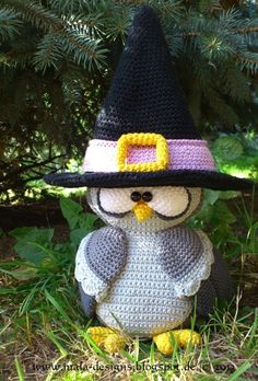 Crochet - Saxon bruja, búho + araña, ganchillo, pdf - una pieza de diseño de Mala diseña en DaWanda