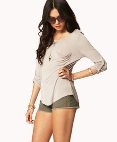 Essential Patch Pocket Top | FOREVER21 - 2042279195