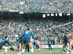 Milano, San Siro: 14 aprile 1985  http://chepalle.gazzetta.it/2013/02/21/volley-a-san-siro/