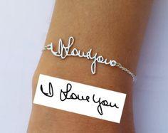SALE Signature Bracelet Handwriting by PersonalizedNecklace