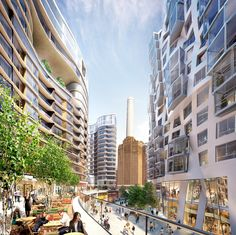 Gallery of New Images Released of Foster and Gehry's Battersea Power Station Designs - 4