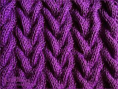 Sand Cable stitch  |  Knitting Stitch Patterns
