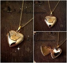 1a06a2fb8ede The Swan Princess Inspired Odette Locket by LAcchiappasogni  locketnecklace  Swan Necklace