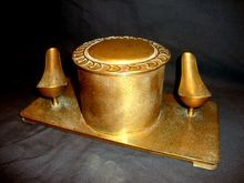 Awesome Bronze Pipe Holder and Humidor #2488 ~ Silver Crest ~ Smith  Metal Arts Buffalo NY 1889 -1906