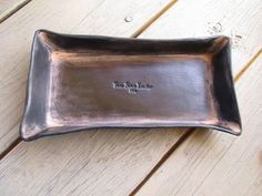 Leather Desk Organizer. Hand Molded Dyed and by TwinSaints