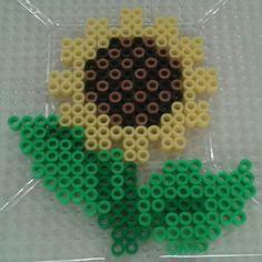 Sunflower perler beads by Eleka Peka
