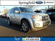 2012 Ford Escape LIMITED 59k miles $19,998 59672 miles 610-628-4539 Transmission: Automatic  #Ford #Escape #used #cars #SpringfieldFord #Springfield #PA #tapcars