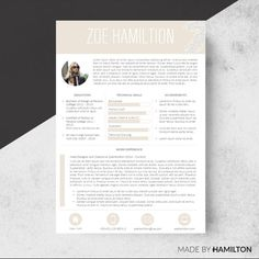 Template Cover Letter Resumecv  Monicaoccy Design On Creativemarket  Resume .