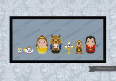 This is a parody, an inspirational cross stitch pattern of the cartoon Beauty and the Beast, featuring Chip Potts, Mrs. Potts, Belle, Beast, Lumière, Cogsworth and Gaston  PATTERN DETAILS: Stitches: 111x27 Size (with 14 count Aida fabric): 16x5 cm  With purchase, youll receive a download link with: A PDF color and symbols pattern A Symbol Key page in DMC / Anchor floss code  -----------------------------------------------------------------------------------------------------  This is an…