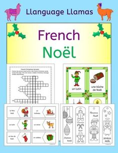 french winter hiver worksheets handouts activities elementary french for young language. Black Bedroom Furniture Sets. Home Design Ideas