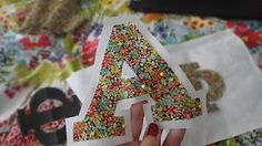 Easy Sew-On Letters