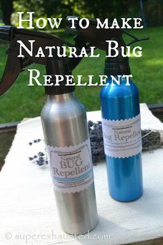 Keep bugs away from your kids by making this natural bug repellent.