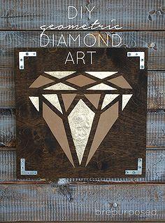 diy geometrische diamant kunst, ambachten, diy, home decor, muur decor