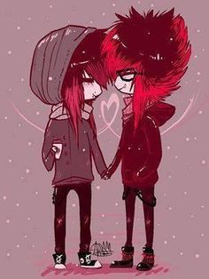 emo❤ cute (: im in love with this Emo Love, Cute Love, Cute Emo Couples, Scene Couples, Emo Scene, Scene Hair, Amor Emo, Animes Emo, Oblyvian Girls