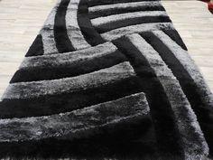 "Unique Design ""Black & Grey"" Shaggy Turkish Rug Size: 200 x Black And Grey Rugs, Shaggy Rug, Diy Carpet, Carpet Ideas, Green Carpet, Bedroom Carpet, T Shirt Diy, Carpet Runner, Rug Size"