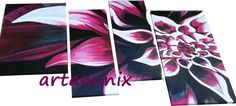 Mille sfumature di fucsia #flowers #fiori #handmade #nature #pop #art #modern #paint #italia #madeinitaly #love