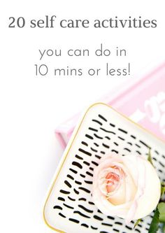 Everyone needs some self care, but who has the time? Here are 20 self care…