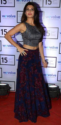 Jacqueline Fernandez ~ Manish Malhotra Bollywood Actors, Bollywood Celebrities, Ghaghra Choli, Star Wars, Desi Wear, She Is Gorgeous, Indian Celebrities, India Fashion, Indian Designer Wear