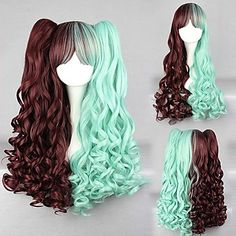 Lolita Wig Inspired by Cute Sweety Brown and Green Mixed Color Punk  – USD $ 41.99