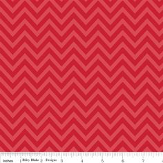 Riley Blake The Sweetest Thing Yardage Sweetest Chevron Red