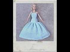 Crochet Barbie Dress - Tutorial - YouTube