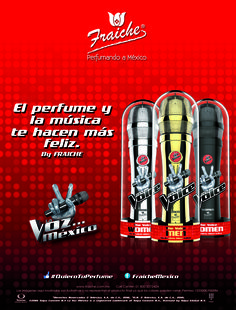Colección de fragancias de La Voz México. The Voice, Happy, Musica, Fragrance