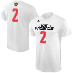 the latest 1b407 63529 Men s Washington Wizards John Wall adidas White Noches Ene-Be-A Name    Number T-Shirt