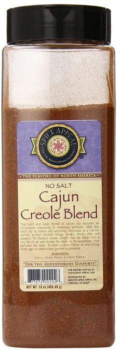 Spice Appeal Cajun Creole Blend No Salt, 16 Ounce * For more information, visit : Fresh Groceries