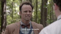 New party member! Tags: hbo danny mcbride bowtie walton goggins vice principals vice principals hbo lee russell i think your tie sucks Vice Principals Hbo, Danny Mcbride, Walton Goggins, Hbo Series, July 24, Funny Gifs, New Trends, Maid, I Laughed