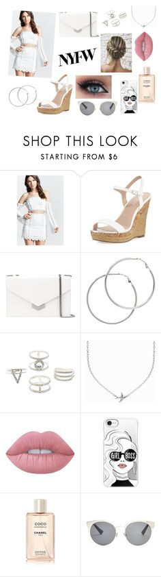 """""""Spotlight"""" by rahi445 on Polyvore featuring Forever 21, Charles by Charles David, Jimmy Choo, Melissa Odabash, Charlotte Russe, Minnie Grace, Lime Crime, Casetify and Christian Dior"""