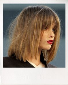 Messy long bob--  Nice to see that the way my hair is most of the time is finally in fashion ...