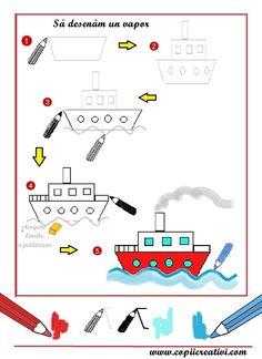 Boot tekenen met kleuters