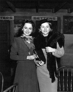 Sisters Olivia de Havilland and Joan Fontaine. Rarely photographed together, they did not want to invite comparisons on who was a better actor or who was the most beautiful.
