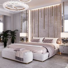 Apartment on Krestovsky Island - Dezign Ark (Beta) Room Design Bedroom, Master Bedroom Interior, Modern Master Bedroom, Bedroom Furniture Design, Home Room Design, Room Ideas Bedroom, Home Decor Bedroom, Dream Bedroom, Luxury Furniture