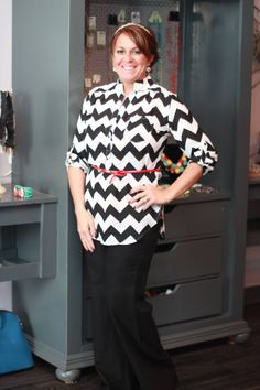 Black and White Chevron top - $30 Linen pants - $25 to order: call 317-889-1150 or email jen@jendaisy.com