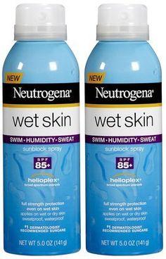Neutrogena Wet Skin Sunblock Spray SPF 85+-5 oz, 2 ct (Quantity of 2) by Neutrogena. $25.99
