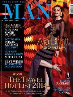 Alia Bhatt on MAN magazines cover page