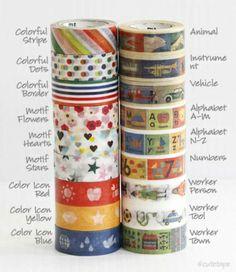 Mini MT Kids Theme Washi Masking Tape - NEW Washi Tape - Japanese Washi Tape