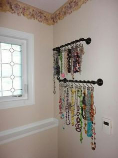Hang necklaces with style