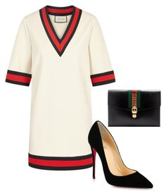 Untitled #14 by jacqueline-jj on Polyvore featuring polyvore, fashion, style, Gucci, Christian Louboutin and clothing