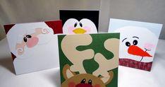 handmade christmas cards, winter faces, myscrapchick, etsy christmas cards