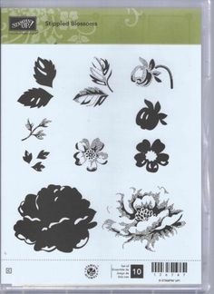 Stampin Up Stippled Blossoms Two Step Clear Mount Stamp Set Flowers Leaves NIP | eBay