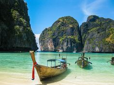 Maya Bay, one of the most breathtaking beaches in all of SE Asia and only 30 minutes by boat from Krabi, #Thailand
