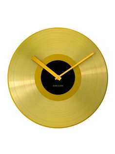 Golden Record Alarm Clock by Karlsson by Present Time