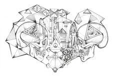 Original Bone City. Tattooed leather art.